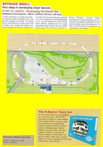 Peco New Plan 001a N Scale Small Layout 'Lapford'